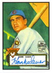 2001 Topps Archives Autographs #TAA25 Hank Sauer E1