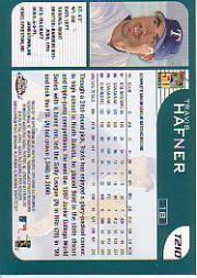 2001 Topps Chrome Traded #T210 Travis Hafner back image