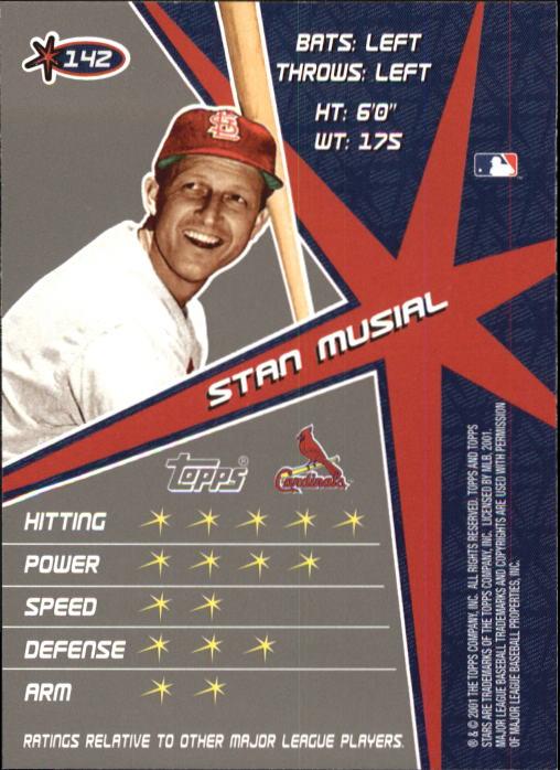 2001 Topps Stars #142 Stan Musial back image