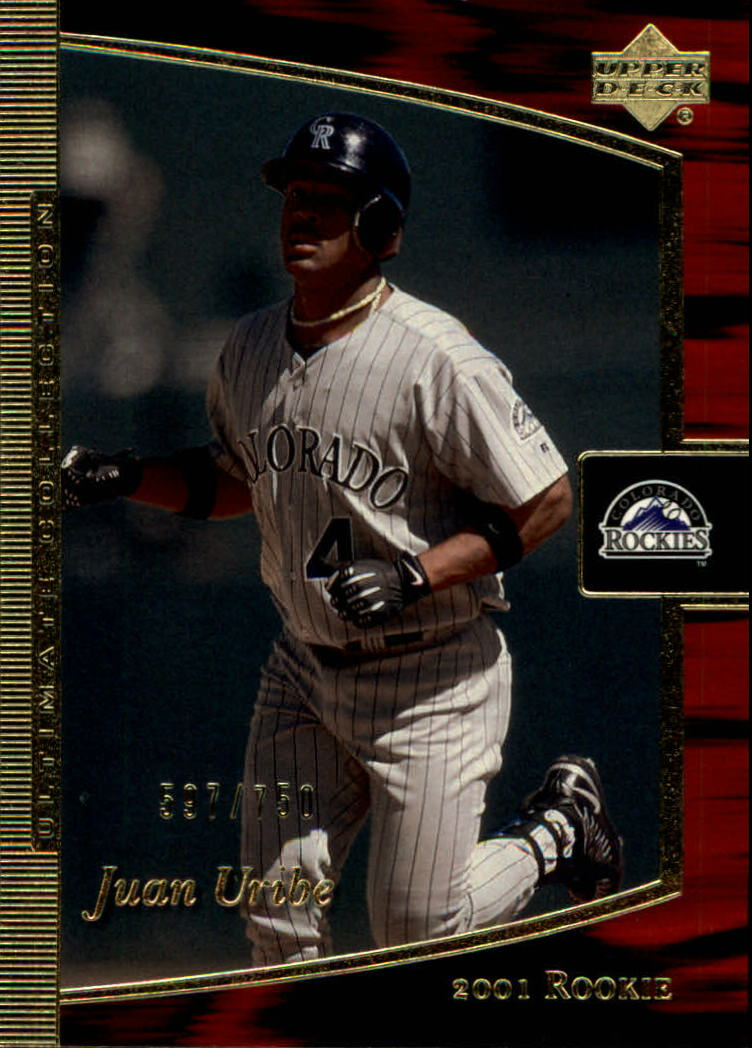 2001 Ultimate Collection #102 Juan Uribe T2 RC