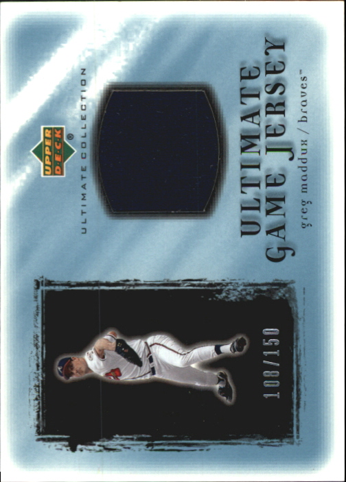 2001 Ultimate Collection Game Jersey #UGM Greg Maddux