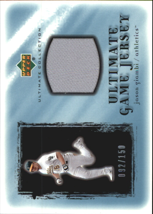 2001 Ultimate Collection Game Jersey #UJAG Jason Giambi