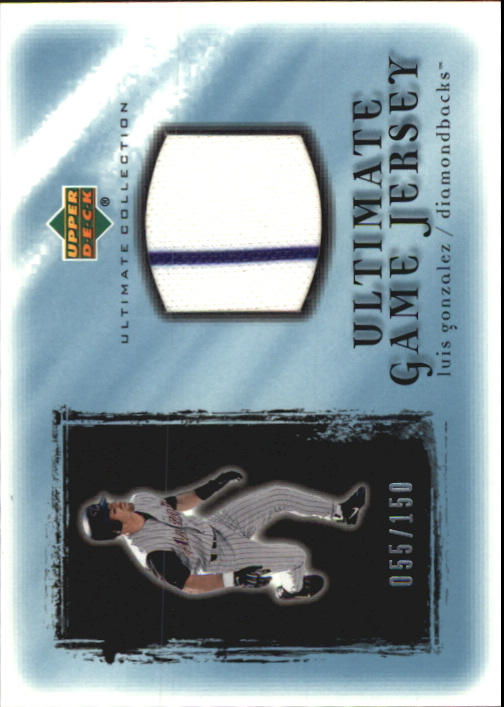 2001 Ultimate Collection Game Jersey #ULG Luis Gonzalez