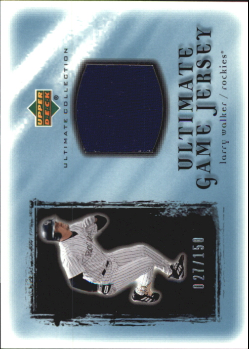 2001 Ultimate Collection Game Jersey #ULW Larry Walker