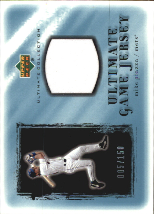 2001 Ultimate Collection Game Jersey #UMP Mike Piazza