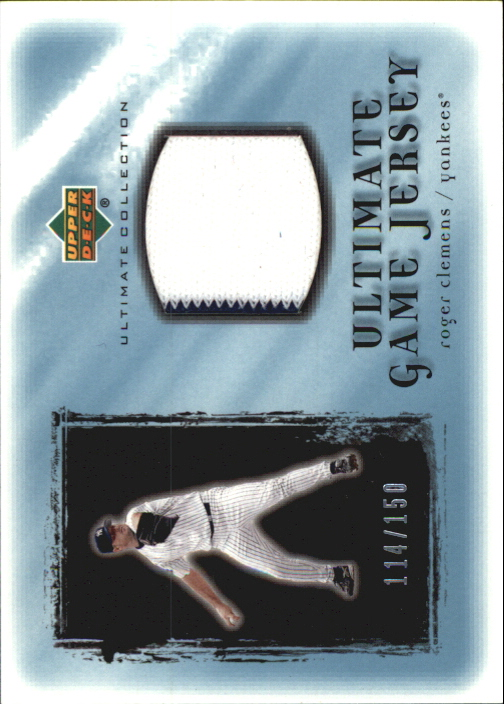 2001 Ultimate Collection Game Jersey #URC Roger Clemens