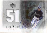 2001 Ultimate Collection Ichiro Jersey #SJI Ichiro Suzuki AU/50