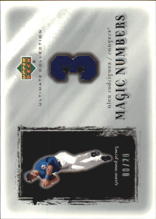 2001 Ultimate Collection Magic Numbers Game Jersey Silver #MNAR Alex Rodriguez