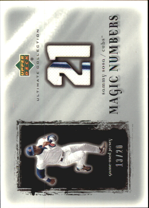 2001 Ultimate Collection Magic Numbers Game Jersey Silver #MNSS Sammy Sosa