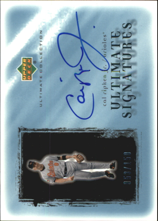 2001 Ultimate Collection Signatures #CR Cal Ripken
