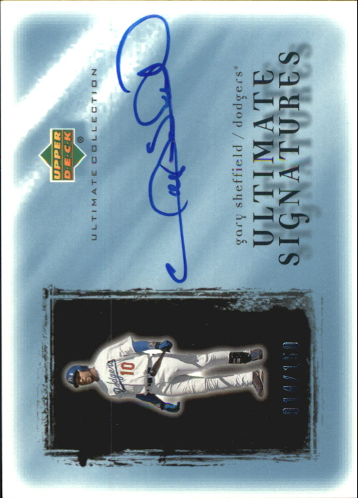 2001 Ultimate Collection Signatures #GS Gary Sheffield