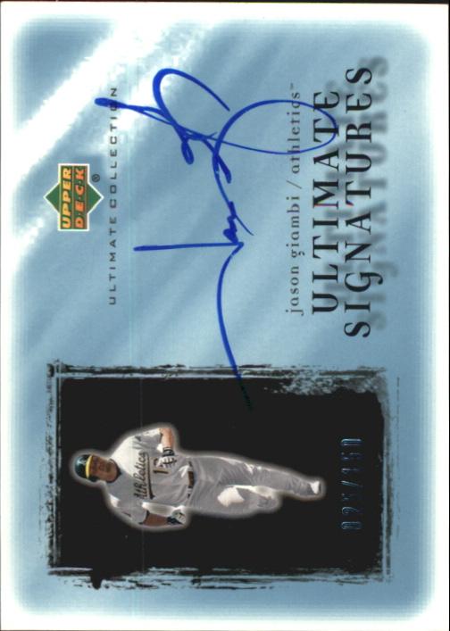 2001 Ultimate Collection Signatures #JAG Jason Giambi