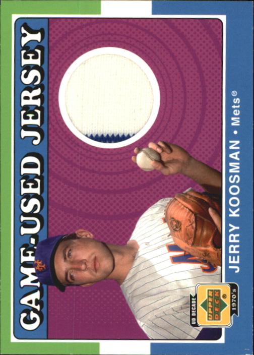 2001 Upper Deck Decade 1970's Game Jersey #JJKO Jerry Koosman
