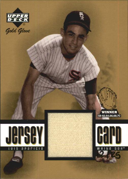2001 Upper Deck Gold Glove Game Jersey Gold #GGLA Luis Aparicio