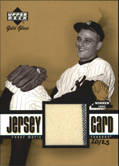 2001 Upper Deck Gold Glove Game Jersey Gold #GGRM Roger Maris