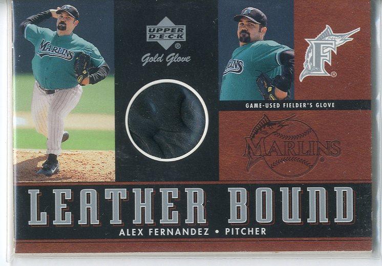 2001 Upper Deck Gold Glove Leather Bound #LBAF Alex Fernandez