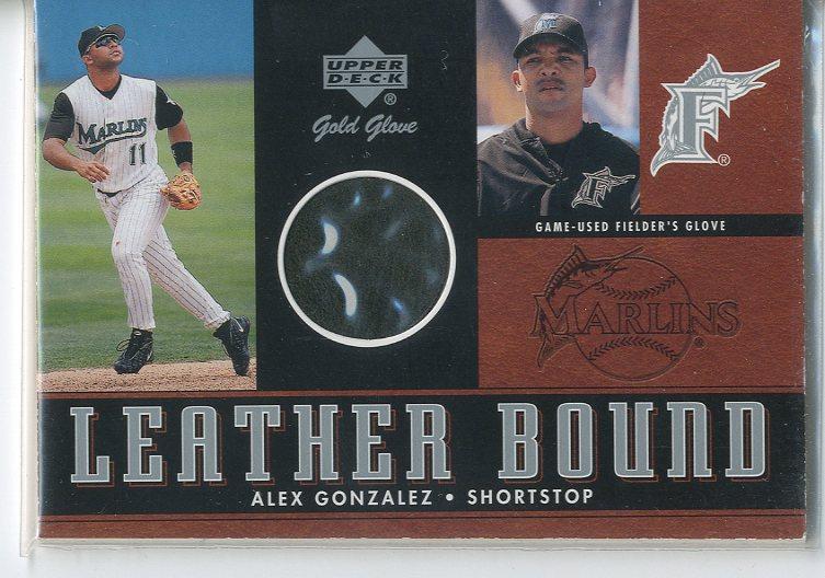 2001 Upper Deck Gold Glove Leather Bound #LBAG Alex Gonzalez
