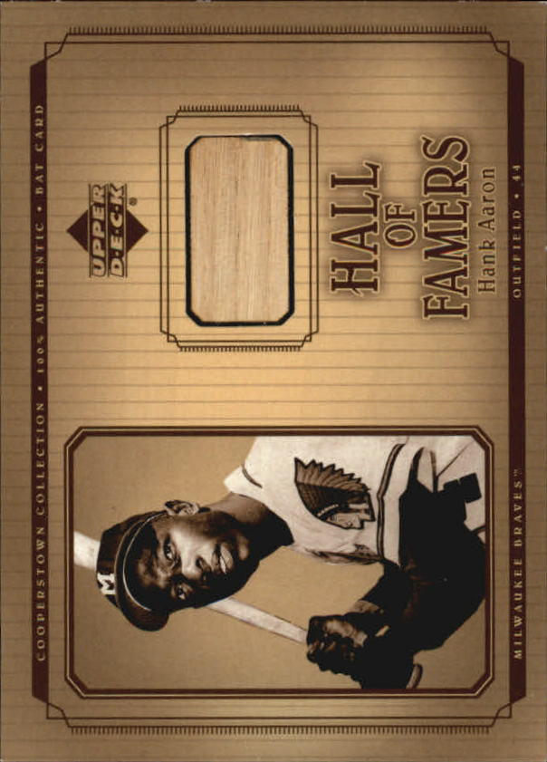 2001 Upper Deck Hall of Famers Game Bat #BHA Hank Aaron DP
