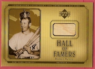 2001 Upper Deck Hall of Famers Game Bat #BMM Mickey Mantle