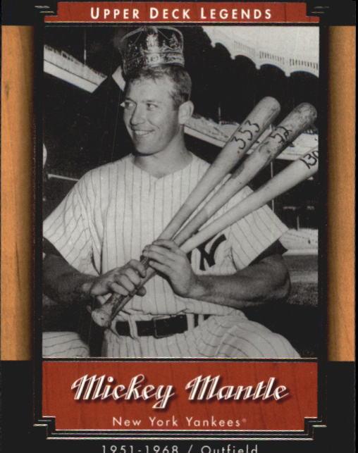 2001 Upper Deck Legends #39 Mickey Mantle