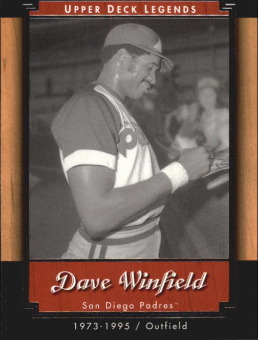 2001 Upper Deck Legends #78 Dave Winfield