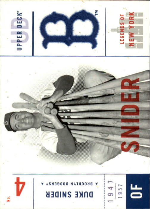 2001 Upper Deck Legends of NY #8 Duke Snider