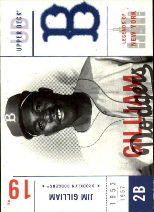 2001 Upper Deck Legends of NY #9 Jim Gilliam