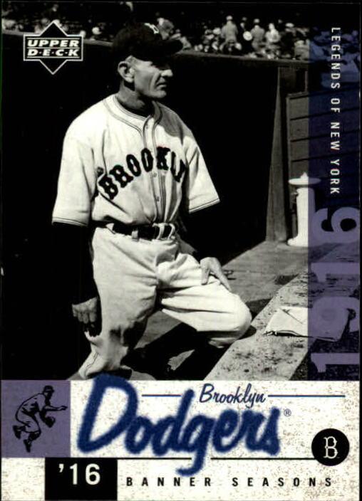 2001 Upper Deck Legends of NY #22 Casey Stengel BNS