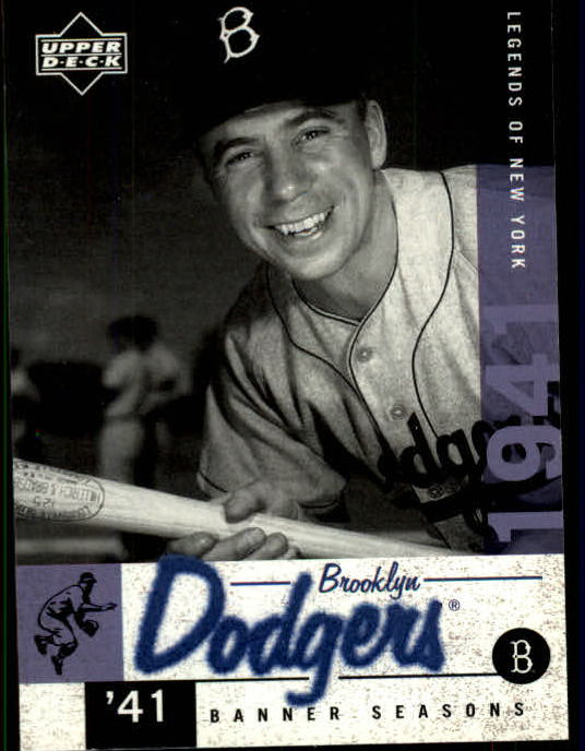 2001 Upper Deck Legends of NY #24 Pee Wee Reese BNS