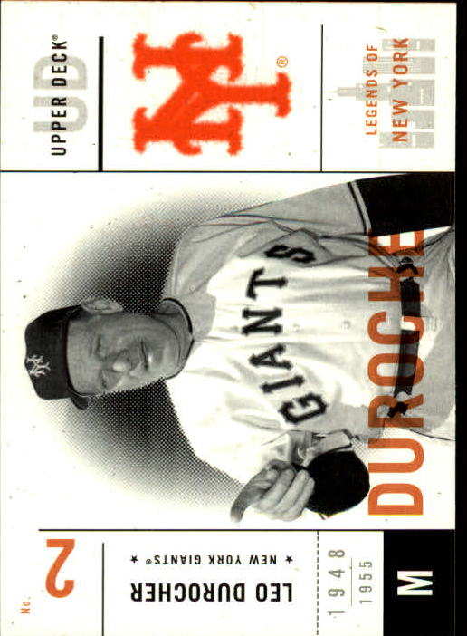 2001 Upper Deck Legends of NY #42 Leo Durocher