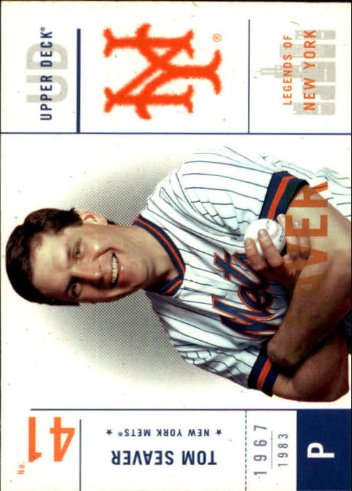2001 Upper Deck Legends of NY #78 Tom Seaver