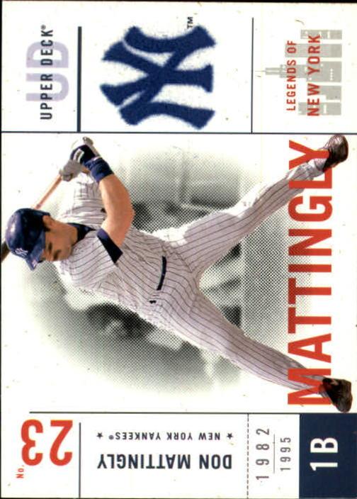 2001 Upper Deck Legends of NY #103 Don Mattingly
