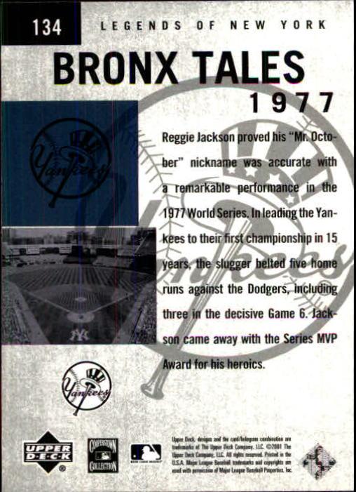 2001 Upper Deck Legends of NY #134 Reggie Jackson BT back image