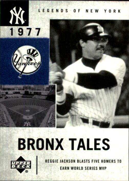 2001 Upper Deck Legends of NY #134 Reggie Jackson BT
