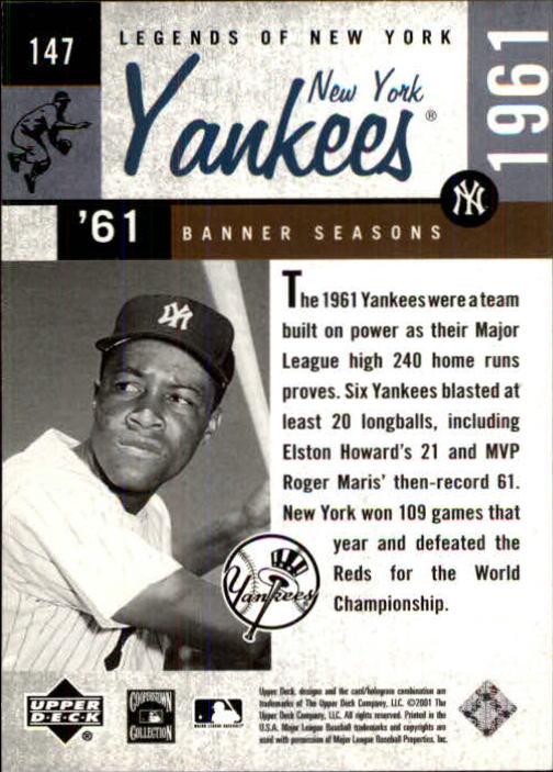 2001 Upper Deck Legends of NY #147 Elston Howard BNS back image