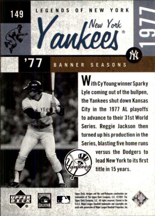 2001 Upper Deck Legends of NY #149 Reggie Jackson BNS back image