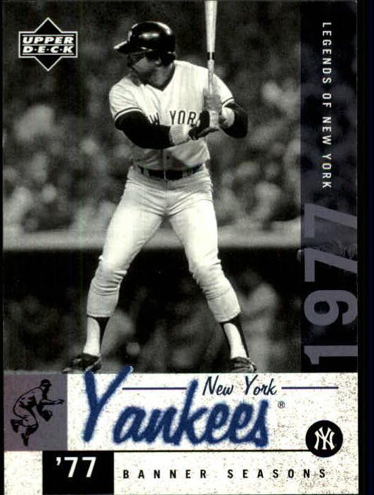 2001 Upper Deck Legends of NY #149 Reggie Jackson BNS
