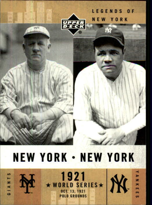 2001 Upper Deck Legends of NY #151 J.McGraw/B.Ruth