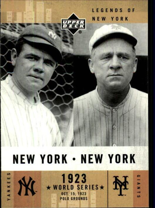 2001 Upper Deck Legends of NY #152 B.Ruth/J.McGraw