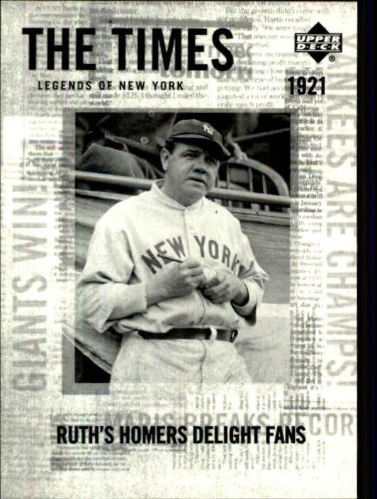 2001 Upper Deck Legends of NY #169 Babe Ruth TT