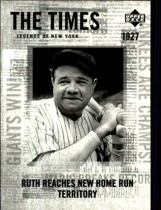 2001 Upper Deck Legends of NY #172 Babe Ruth TT