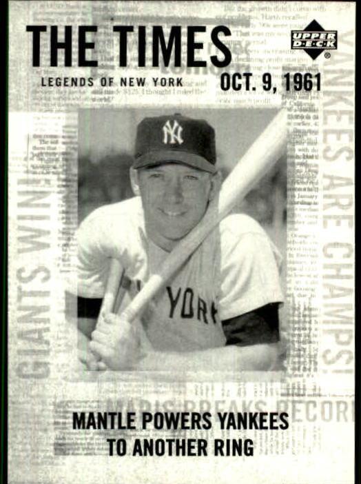2001 Upper Deck Legends of NY #190 Mickey Mantle TT