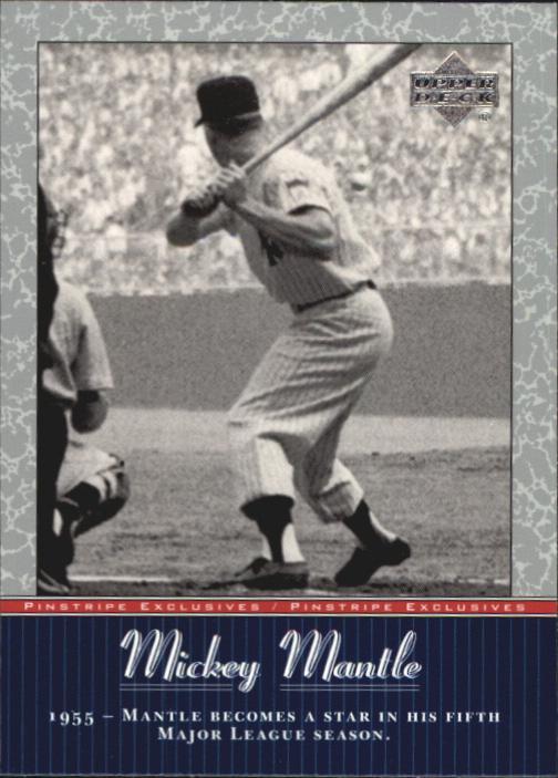 2001 Upper Deck Pinstripe Exclusives Mantle #MM16 Mickey Mantle