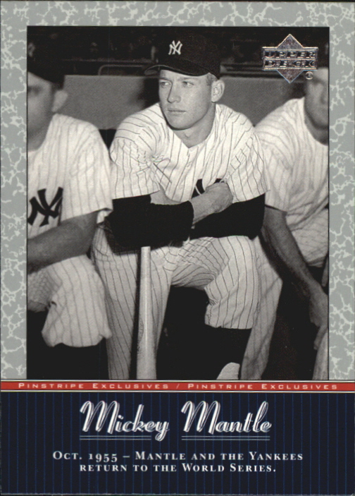 2001 Upper Deck Pinstripe Exclusives Mantle #MM18 Mickey Mantle