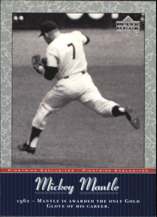 2001 Upper Deck Pinstripe Exclusives Mantle #MM40 Mickey Mantle