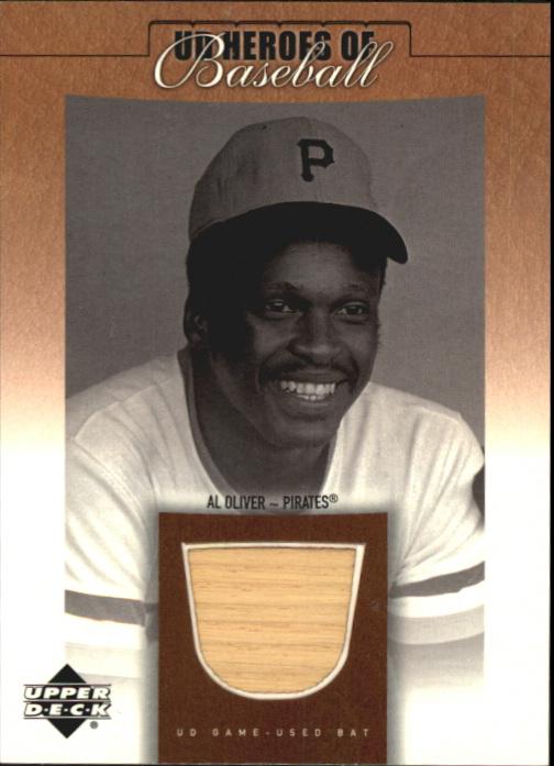 2001 Upper Deck Prospect Premieres Heroes of Baseball Game Bat #BAO Al Oliver