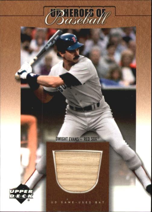 2001 Upper Deck Prospect Premieres Heroes of Baseball Game Bat #BDE Dwight Evans