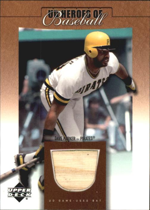 2001 Upper Deck Prospect Premieres Heroes of Baseball Game Bat #BDP Dave Parker