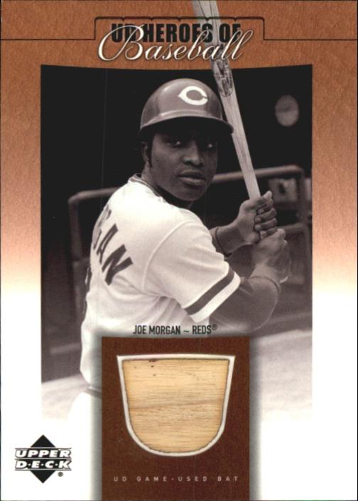 2001 Upper Deck Prospect Premieres Heroes of Baseball Game Bat #BJM Joe Morgan
