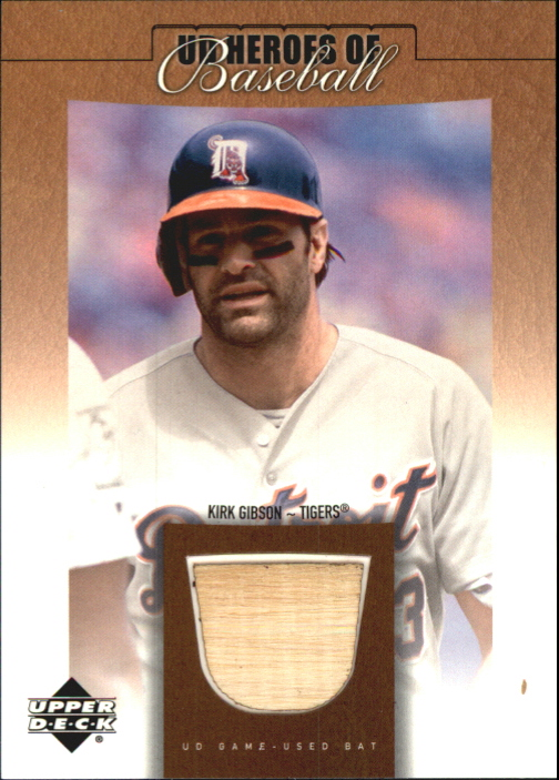 2001 Upper Deck Prospect Premieres Heroes of Baseball Game Bat #BKIG Kirk Gibson